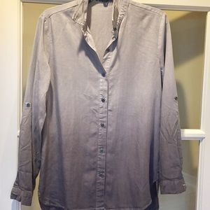 Chelsea and Theodore gray hombre top dip dye S new